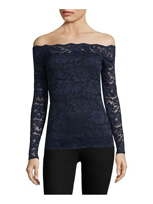 L'AGENCE Heidi Off-The-Shoulder Lace Top