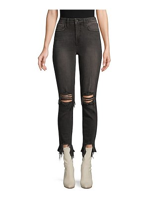 L'AGENCE high-rise distressed skinny jeans