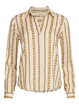 L'AGENCE holly chain stripe blouse