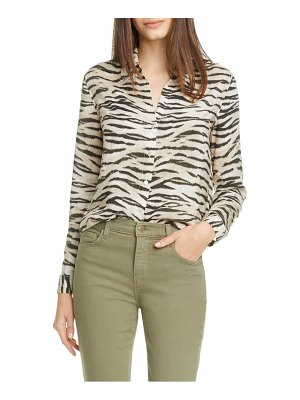 L'AGENCE holly tiger print blouse