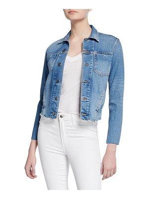 L'AGENCE Janelle Slim Raw-Edge Jacket