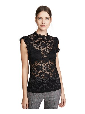 L'AGENCE kassia ruffle lace top