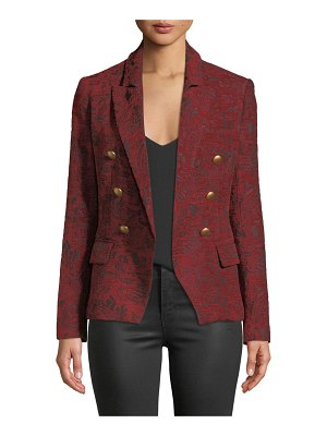 L'AGENCE Kenzie Double-Breasted Jacquard Blazer