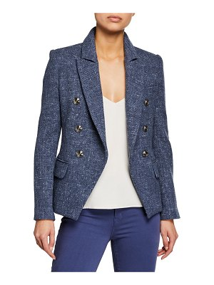 L'AGENCE Kenzie Double-Breasted Tweed Blazer