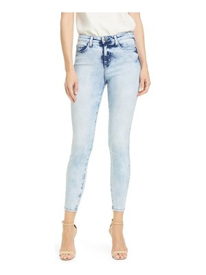 L'AGENCE margot acid wash crop skinny jeans