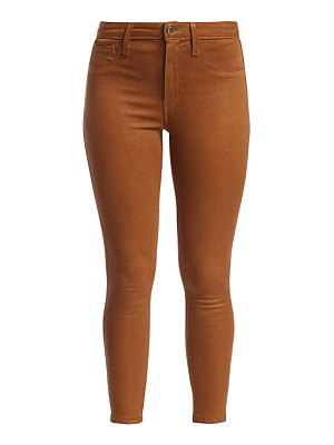 L'AGENCE margot high-rise ankle skinny coated jeans