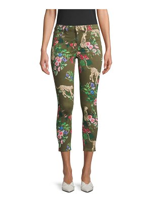 L'AGENCE margot high-rise floral leopard skinny jeans