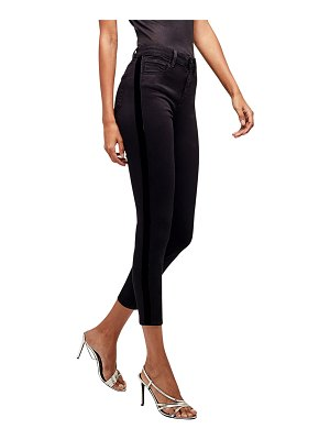 L'AGENCE Margot High-Rise Skinny Jeans with Tuxedo Stripes
