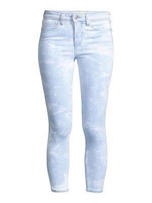 L'AGENCE margot high rise tie dye cropped skinny jeans