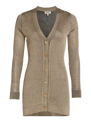 L'AGENCE millie ribbed cardigan