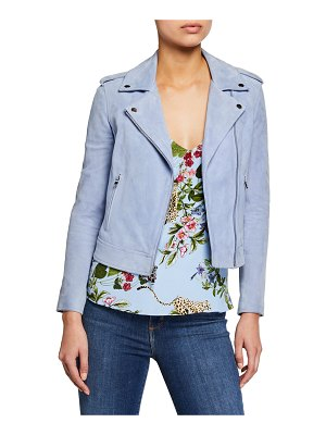 L'AGENCE The Biker Suede Moto Jacket