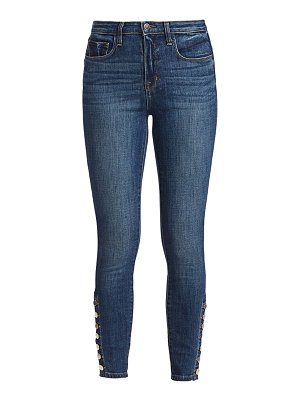 L'AGENCE piper high-rise button-hem skinny jeans