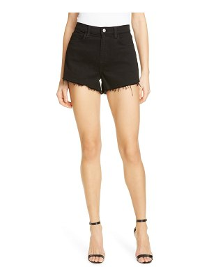 L'AGENCE ryland high waist denim shorts