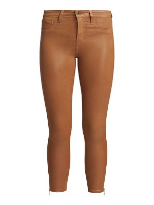 L'AGENCE sabine high-rise ankle coated skinny jeans