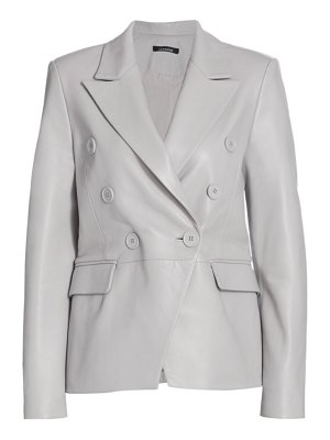 LAMARQUE catherine leather double-breasted blazer