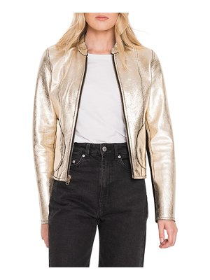 LAMARQUE Chapin Reversible Leather Bomber Jacket