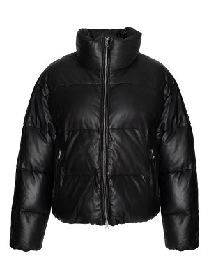 LAMARQUE iris leather puffer jacket
