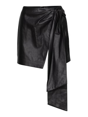 LAMARQUE iva leather draped skirt