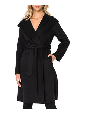 LAMARQUE Willow Hooded Wool Coat with Belt