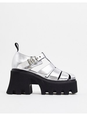 Lamoda chunky caged shoes in silver