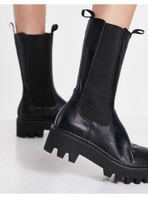Lamoda chunky high ankle boots in black