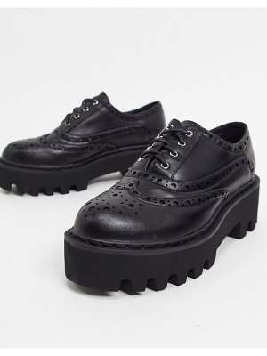 Lamoda chunky lace up shoes in black