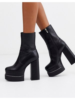 Lamoda chunky platform boots with creeper sole in black