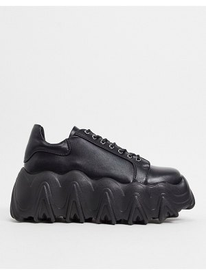 Lamoda chunky sneakers with extreme soles in black