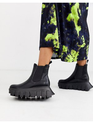 Lamoda extreme chunky sole chelsea boots in black