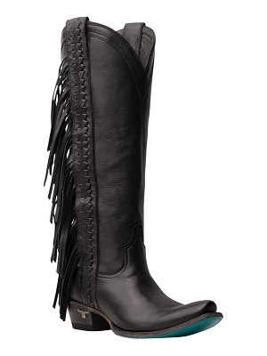 LANE BOOTS katori fringe shaft knee high western boot
