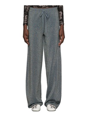 Lanvin blue lurex lounge pants