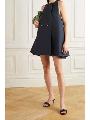Lanvin double-breasted wool and silk-blend mini dress