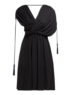 Lanvin draped tasselled crepe dress