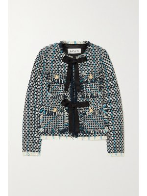 Lanvin fringed wool and cotton-blend tweed jacket