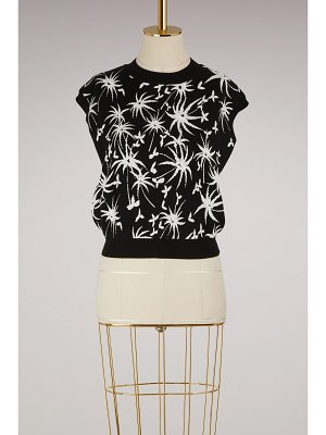 Lanvin Graphic printed knit top