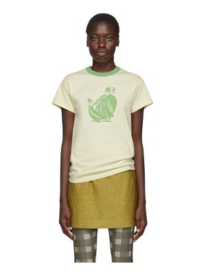 Lanvin off-white and green printed t-shirt