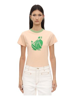 Lanvin Printed cotton jersey t-shirt