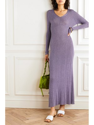 Lanvin ribbed lurex midi dress