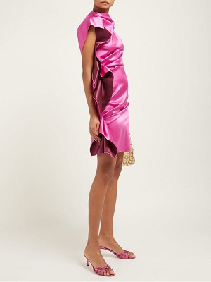 Lanvin ruffled silk-satin dress