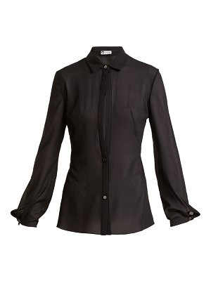 Lanvin sheer silk blend shirt