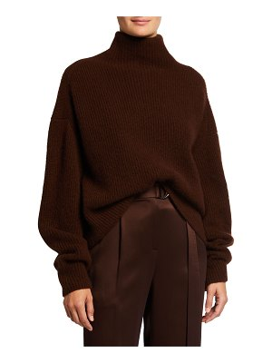 LAPOINTE Airy Cashmere/Silk Ribbed Sweater