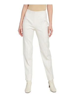 LAPOINTE Luxe Stretch Cotton Pintuck Skinny Pants