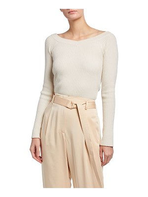 LAPOINTE Ribbed Cashmere Sweater