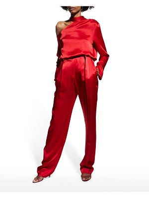 LAPOINTE Satin Belted Trousers