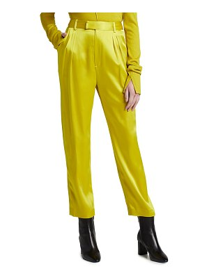 LAPOINTE Satin Pleated Trousers