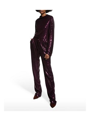LAPOINTE Sequin Tailored Trousers