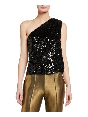 LAPOINTE Sequined Viscose Asymmetric Top