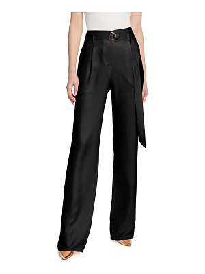LAPOINTE Silky Twill High-Rise Wide-Leg Pants