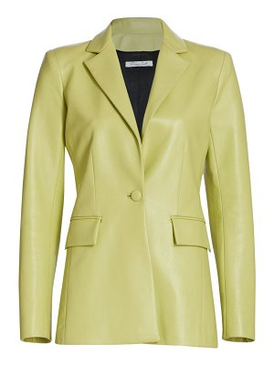 LAQUAN SMITH classic fitted leather blazer