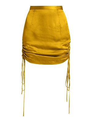 LAQUAN SMITH silk ruched tie mini skirt